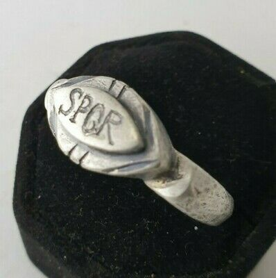 Ancient Legio Silver  Ring-Vintage-Antique ROMAN-RARE