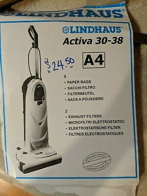 Lindhaus Activa 30-38 A4 18 Brand-New Vacuum Bags!