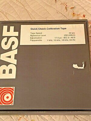 BASF STUDIO MASTER 911 reel. quick check calibration tape. 2 inch 30 its