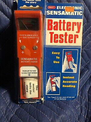 Vintage Battery Tester- Easy To Use- Test 9 Volt. AAA.  AA. C. D  Batteries