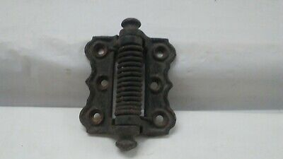 "Antique cast iron ornate Screen Door Hinge Victorian spring closer 3"" x 4"""
