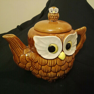 Vintage Japanese Collectable Owl Tea Pot In Excellent Condition