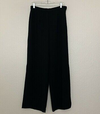 R&M Richards Women's Black Palazzo Dress Evening Pants Side Slits Size 12