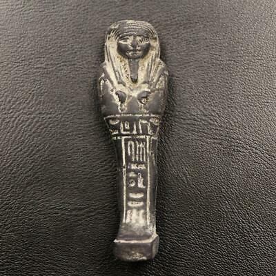 Fine Ancient Egyptian Black Ushabti (Shabti) Statuette Figurine