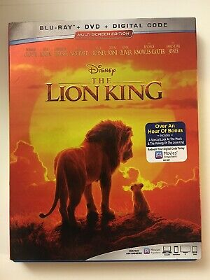The Lion King 2019 Live Action (Blu-Ray + DVD) No Digital Code