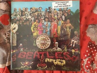THE BEATLES sgt peppers LP 33t UK stereo near-mint