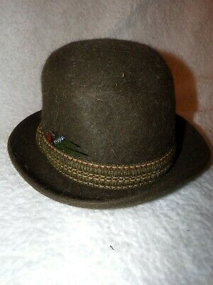 Dunn & Co Hat Mens Great Britain Piccadilly Circus London Green Wool-Vintage