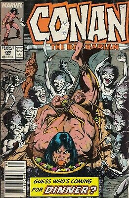 3 Conan The Barbarian  184-189-228  1986-90 Graded Vg Marvel Comics Group