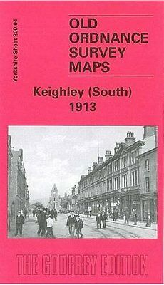 Old Ordnance Survey Map Keighley (South) 1913