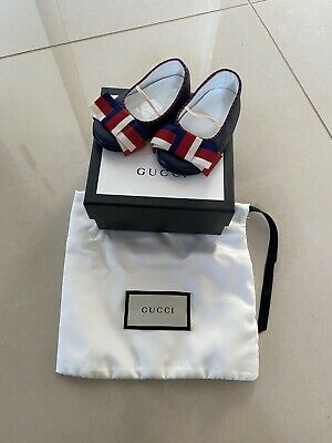 Baby Girls Gucci Shoes Size 18 Blue Infant Child