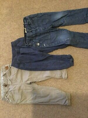 3 Pairs Of 12-18 Boys Trousers M&S And Next