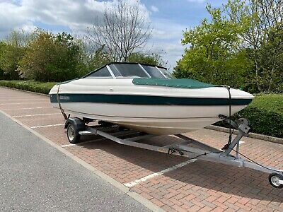 Rinker speedboat v6 mercruiser winter project on good trailer no reserve