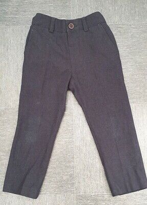 Boys Navy Blue Next Suit Trousers 2 - 3 Years