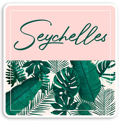 2 x Trpoical Paradise Seychelles Vinyl Stickers Travel Luggage #7456