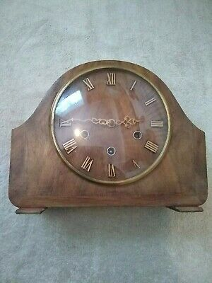 Smith's Westminster 8 Day Mantel Clock In Superb Condition with silencer lever