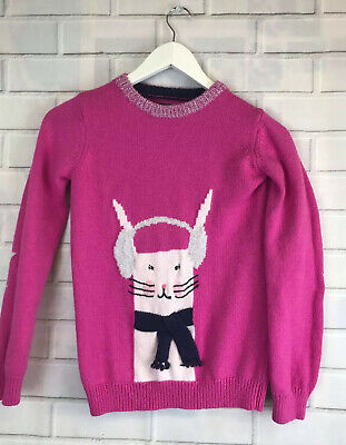 🍄 JOULES 🍄 Pink Bunny In Earmuffs Jumper 11-12 Years
