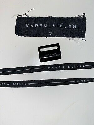 Karen Millen Clothes Label Only Black White Writing x 4