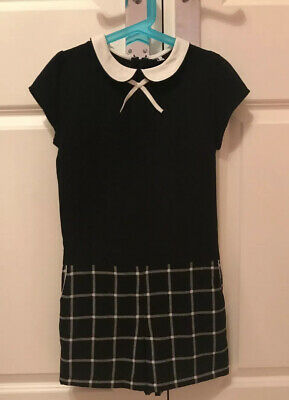 Girls Marks And Spencer's Playsuit 9-10 Years Black And White