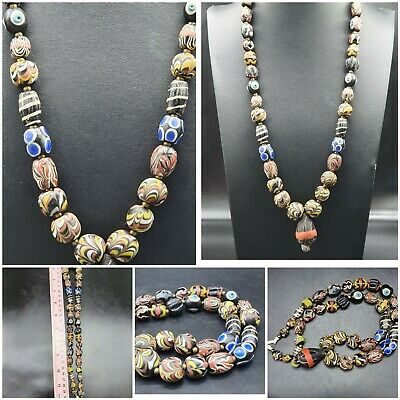 admirable rare Unique Old Gabri Roman Glass Excellent Beads #A119