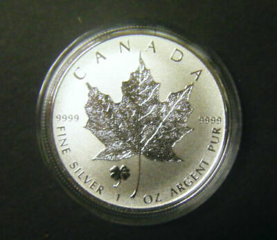 2016 Canada $5 1oz Four Leaf Clover Privy Mark Silver Maple Leaf Bullion coin