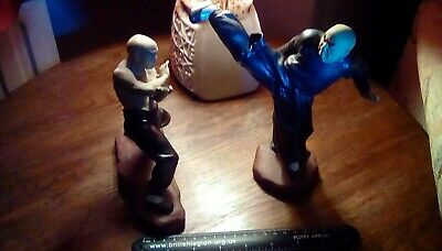 Two Martial Arts / Kung Fu Mudmen / Shaolin( Some Fingers Missing)