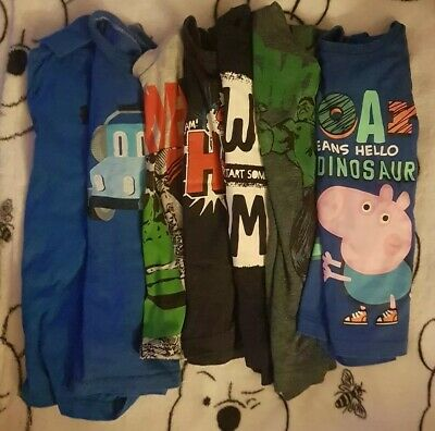 Boys Clothing Tshirt Bundle Age 3-4 Next, George, Boots, Etc