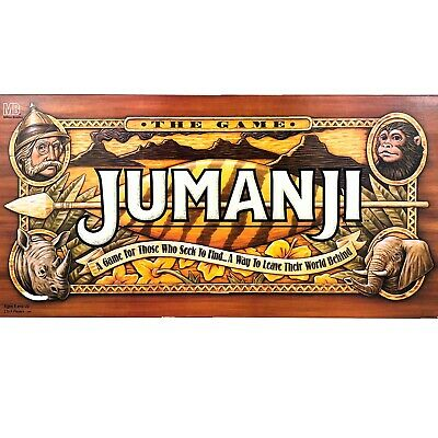 Vintage Jumanji Board Game from Movie 100% Complete 1995 Milton Bradley EUC
