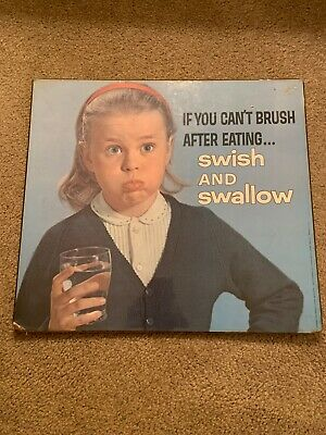 ADVERTISING SIGN AMERICAN DENTAL ASSOCIATION SWISH and SWALLOW 1963