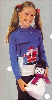 snowman  toy and jumper dk knitting pattern 99p