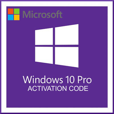 Microsoft Windows 10 Pro Genuine 32/64-bit Product Key Lifetime Activation Code
