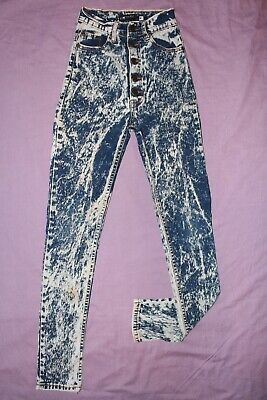 "??) Ladies bnwot Dude blue skinny button fly cotton stretch jeans W21""/L29"""