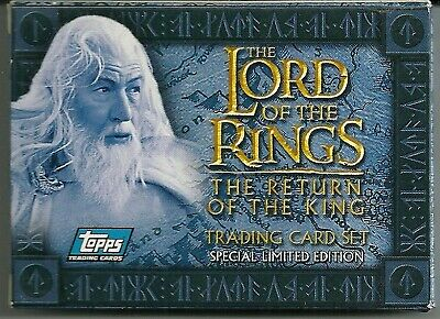 2003 Topps U.K. Lord of the Rings: Return of the King Factory Set ltd 2000