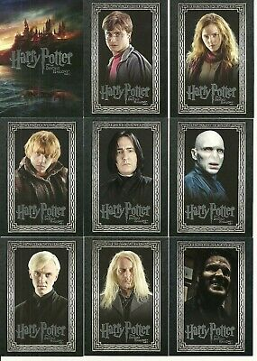 2010 Artbox Entertainment Harry Potter and the Deathly Hallows Part 1 base set +