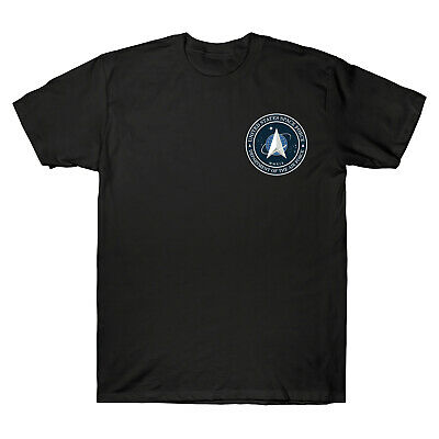United States Space Force USSF Distressed New Logo Classic Men's T-Shirt Cotton