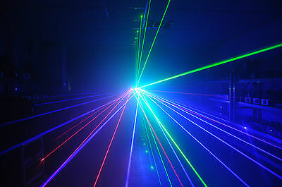 Willi Pro UK 3 HEAD LASER LIGHT RED GREEN BLUE Disco / Nightclub DJ lazer rgb