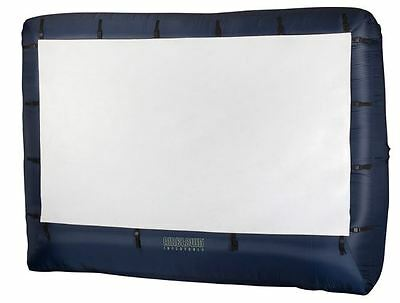 Inflatable Outdoor Movie Screen Film Projector Backyard Party 123 x 77-Inch NEW