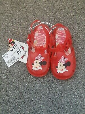 DISNEY Minnie Mouse Girls Red Sandals size 5 (21.5)
