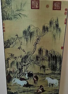 Chinese silk scroll boxed