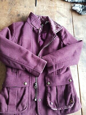 JOULES Girls Tweed Field Coat Country Equestrian Jacket age 9/10 years