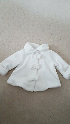 Next Baby Girls Lined Coat 6-9 Months. Lovely & soft. No marks.