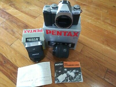 Pentax ZX-M SLR FILM Camera With 35-80 mm Lens & Electronic flash