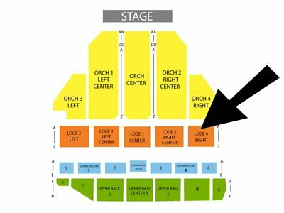 LOVE ROCKS NYC Beacon NY Mar 12 Dave Matthews Jackson Brown 2 Tix LOGE4 ROW E