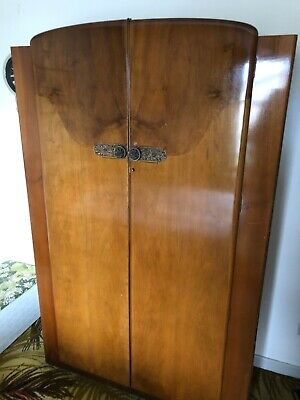 Mid Century Vintage Art Deco Retro Wardrobe's and Sideboard by CWS Ltd Enfield.