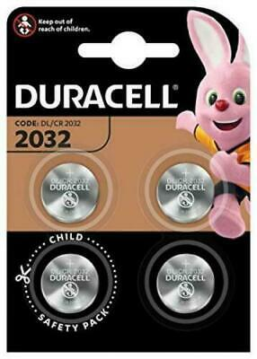 4x Duracell CR2032 3v LITHIUM Coin Cell Batteries DL2032 BR2032