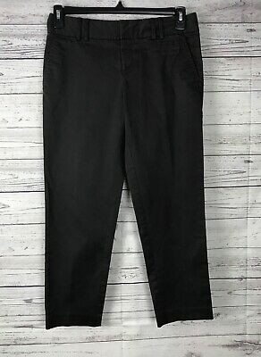 """Banana Republic Women's Brown Stretch Flat Front Ankle Pants Size 4 (Inseam 26"""")"""