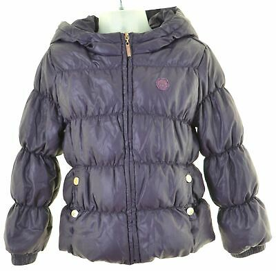UNITED COLORS OF BENETTON Girls Padded Jacket 4-5 Years XS Purple  HO06