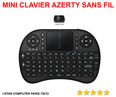 MINI CLAVIER SANS Fil AZERTY pour Android TV Box HK1 X96 H96 MAX