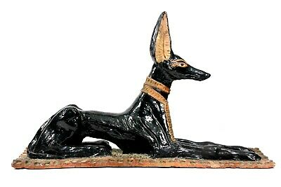 Antique Anubis Egyptian God Grand Tour Terracotta Pottery Dog Large 43 cm