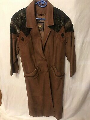 VINTAGE Adventure Bound ORIGINALS by Wilsons Womens Leather Duster Coat Small