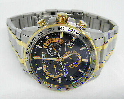 Citizen Perpetual Calendar Two Tone Eco-Drive Men's Watch  AT4004-52E  $650.00